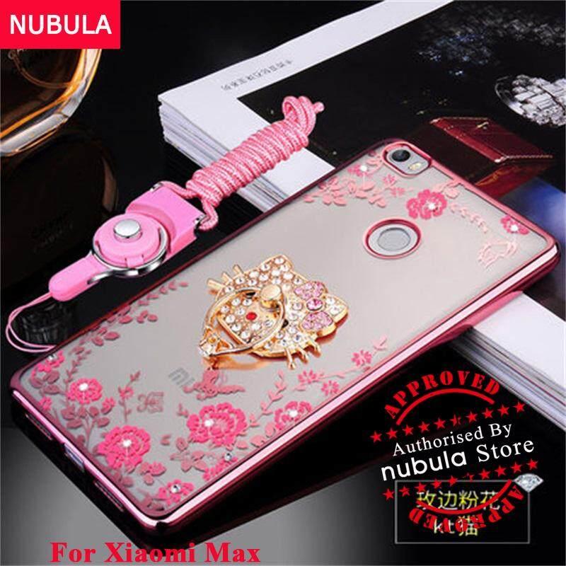 NUBULA For Xiaomi Mi MAX Casing Pretty Diamond Soft TPU Shockproof Phone Case With Phone Rope