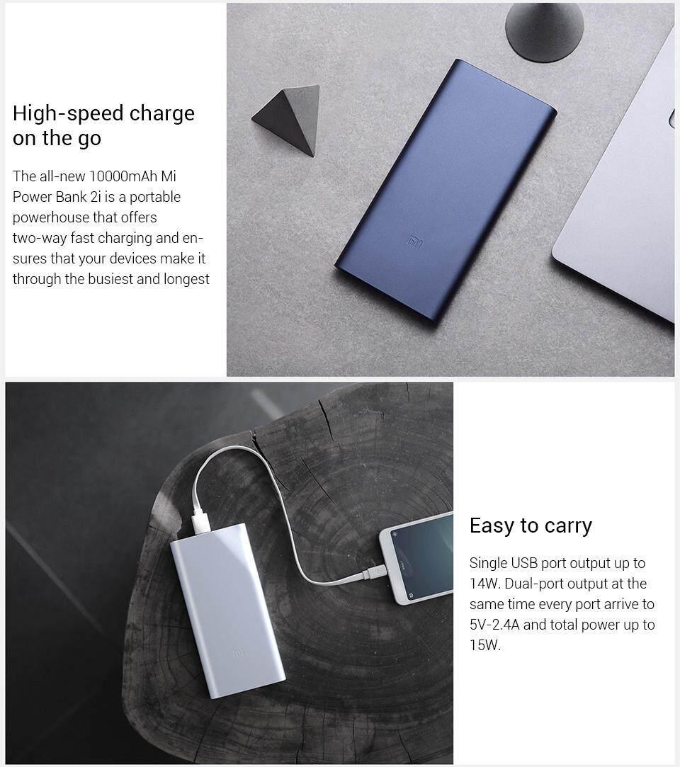 Features Xiaomi Mi Powerbank 10000mah 2i Dual Usb Quick Charge Pro 2 Original Plm09zm 4