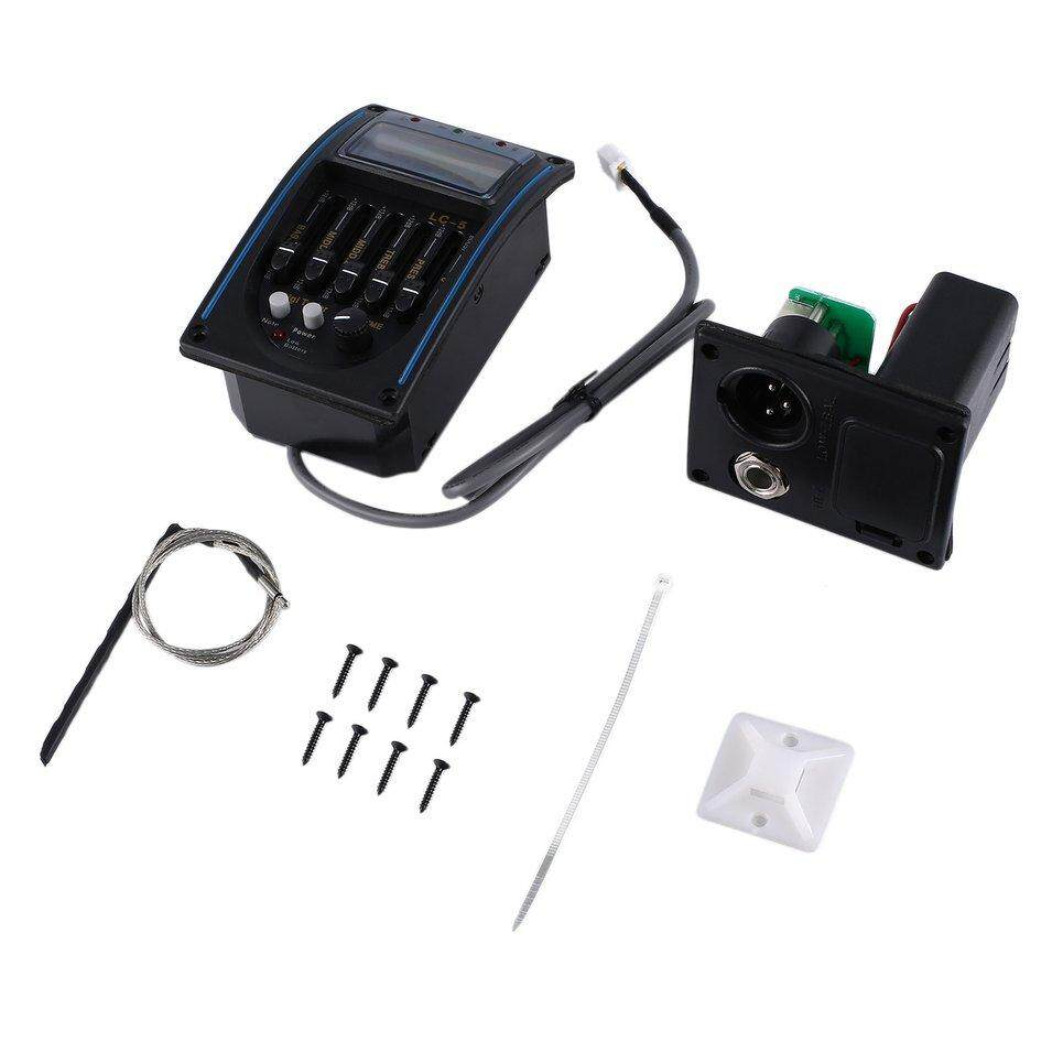 Beau 5 Bands Acoustic Guitar Pickup Equalizer LCD Screen EQ Preamp Amplifier Tuner