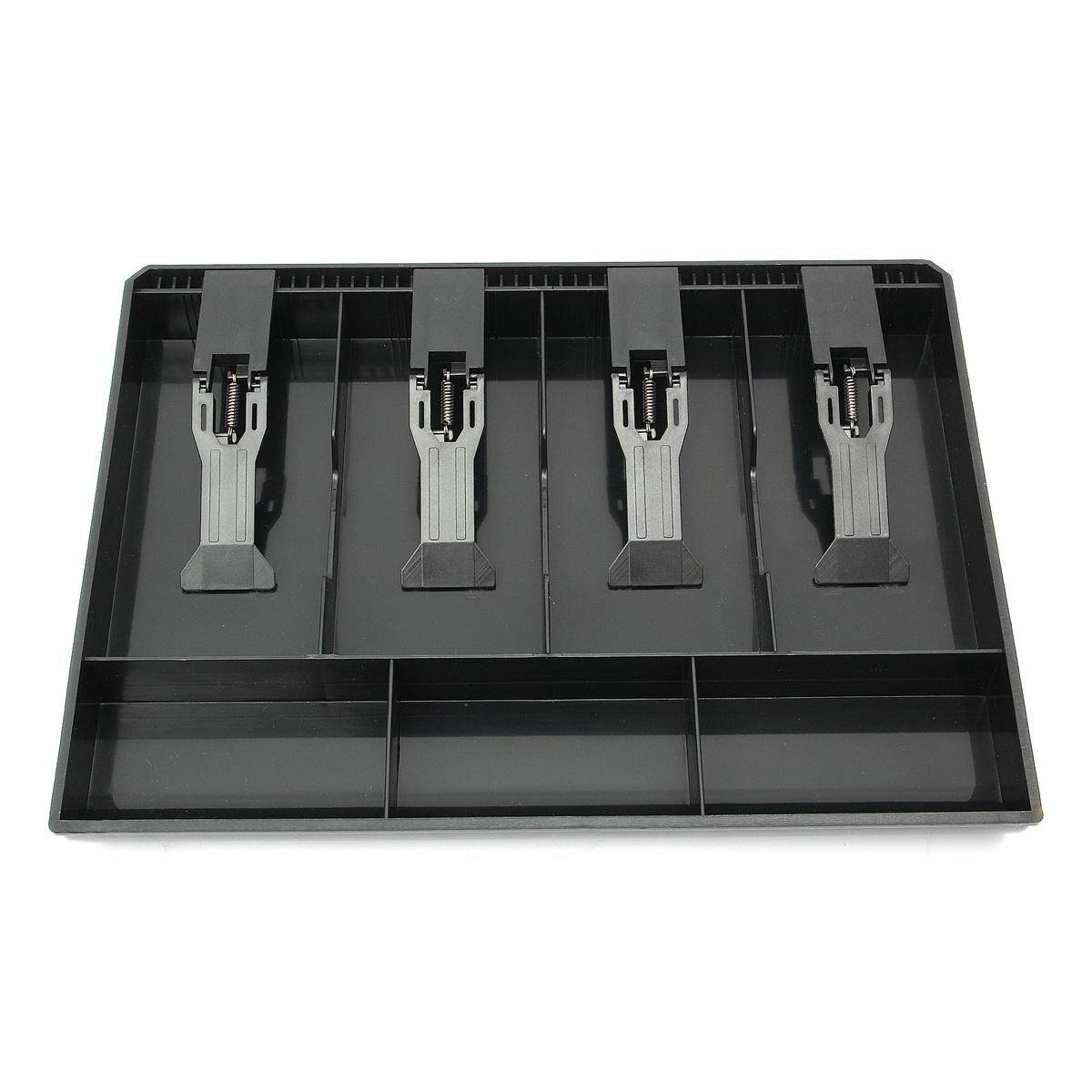 Cash Coin Register Replacement Money Drawer Storage Box With 4 Bill 3 Coin Trays Black By Glimmer.