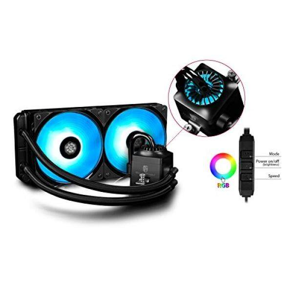 DEEPCOOL Liquid CPU Cooler, Gamer Storm Captain 240 RGB FAN, Synchronous RGB Fans and RGB Waterblock, Cable Controller and Motherboard Software Control Supported, AM4 Compatible, 3-year Warranty - intl