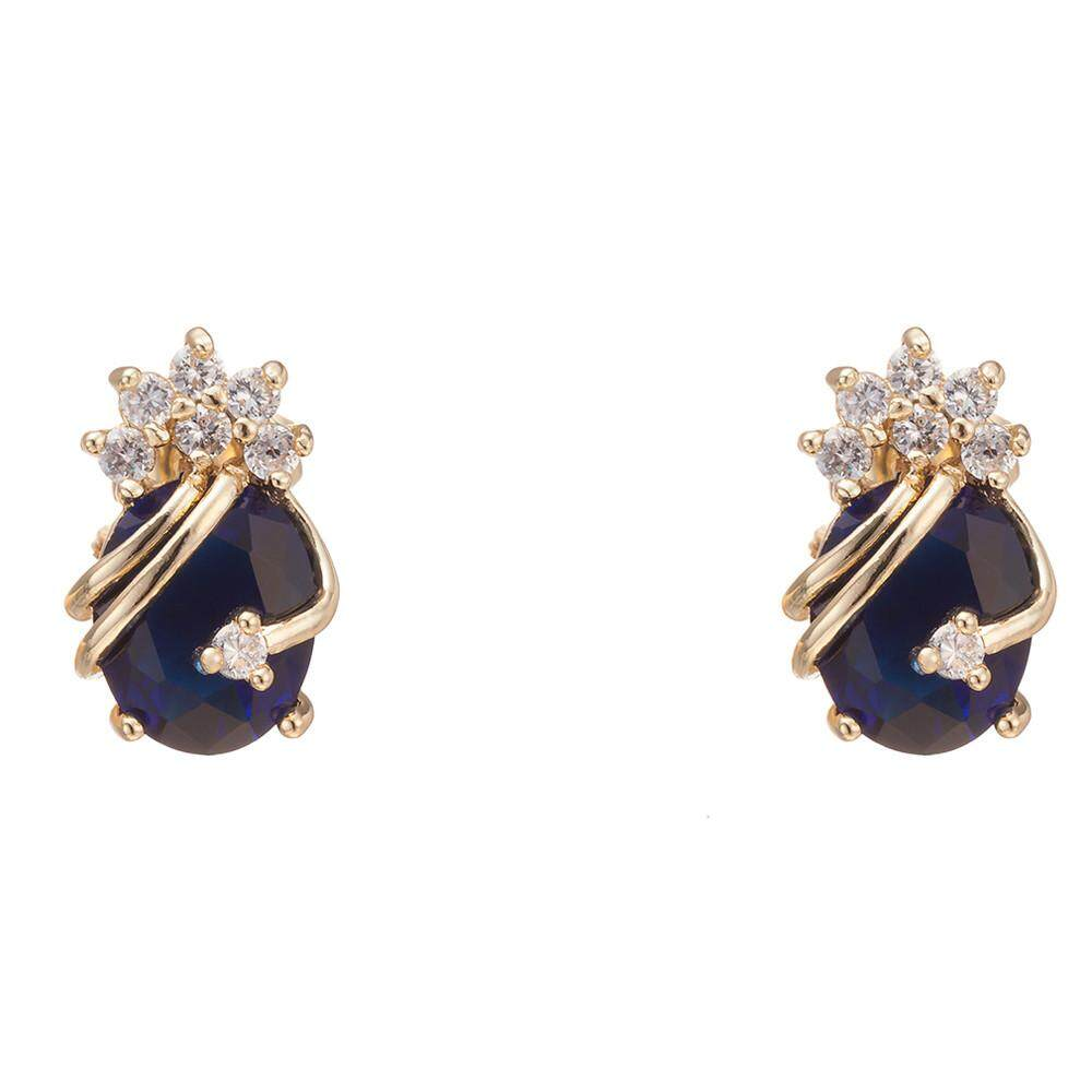 Endowed 1Pair Girls Women Rhinestone Earrings Ear Hook Stud Jewelry BK