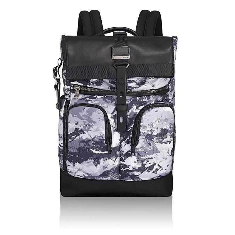 Tumi Men's Alpha Bravo London Roll-Top Backpack , Arctic Restoration