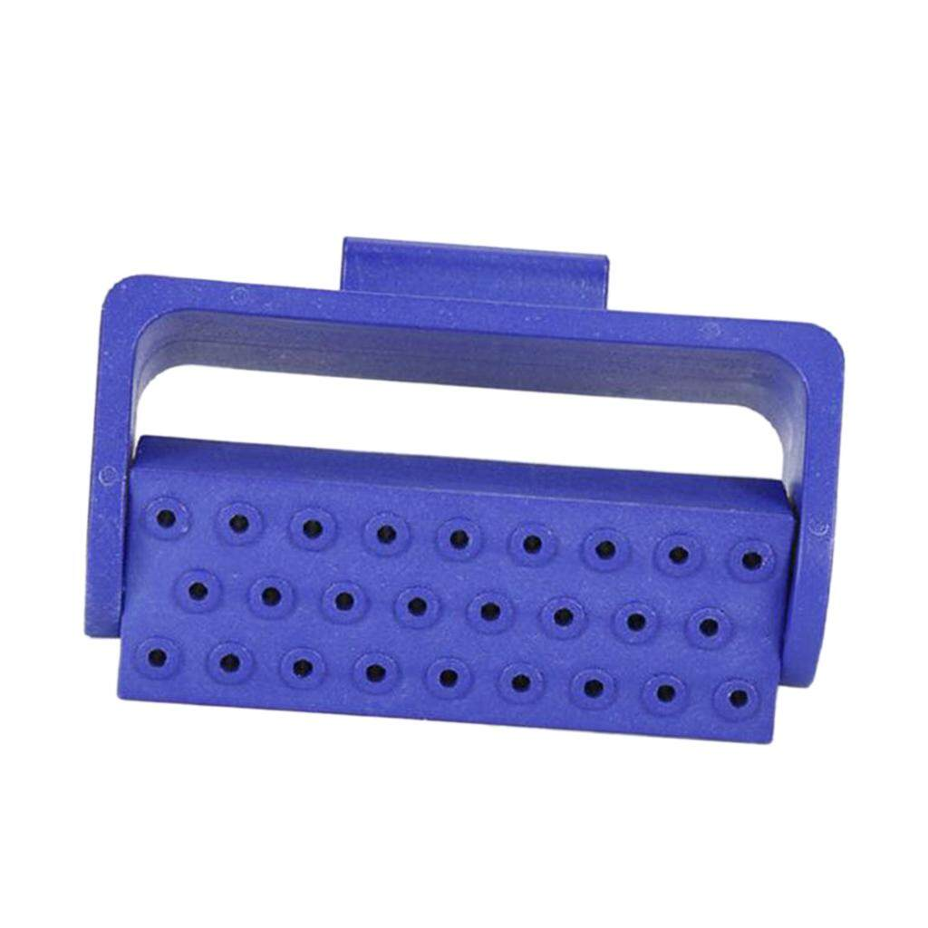 Miracle Shining Teeth Tool 26 Holes Endo Bur Files Block Holder Autoclave Box Blue