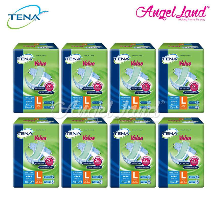 Tena Value Adult Diaper L 10pcs (8 Packs)