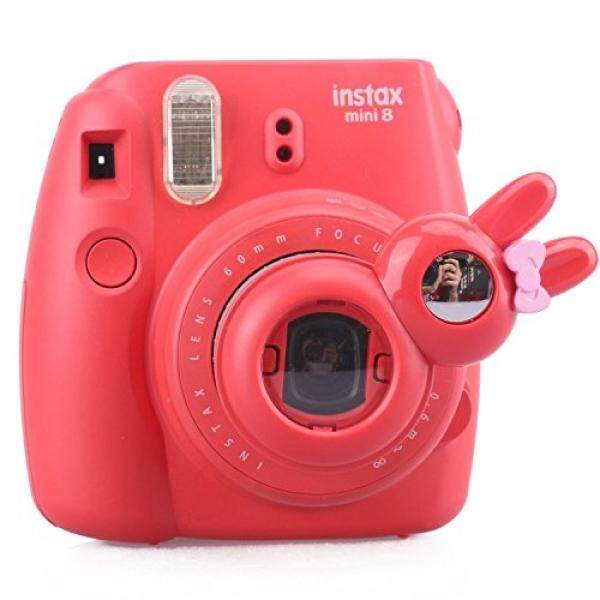 [Fujifilm Instax Mini 7s 8 8+ 9 Selfie Lens] -- CAIUL Rabbit Style Instax Close Up Lens with Self-portrait Mirror For Fujifilm Instax Mini 8 8+ 9 7s Camera and Polaroid PIC-300 (RED)