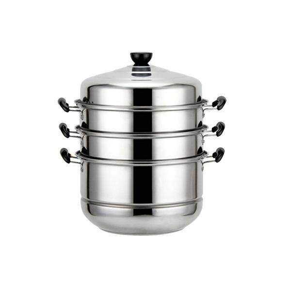 Stainless Steel 4 Tier Steamer Cooking Food Stock Steam Pot Cookware 32cm/12.6 By Moonbeam.