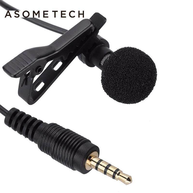 Mini Penjepit Portabel-Di Mikrofon Lavalier Kerah Jas 3.5 Mm Jack Mikrofon Mini Kabel MIC Condenser Microfono untuk Iphone Ipad Smartphone Komputer PC Laptop Loudspeaker