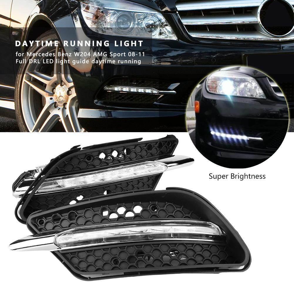 1 Pair Car Daytime Running Light DRL LED Lights Fog Lamp for Mercedes Benz  W204 AMG 08-11