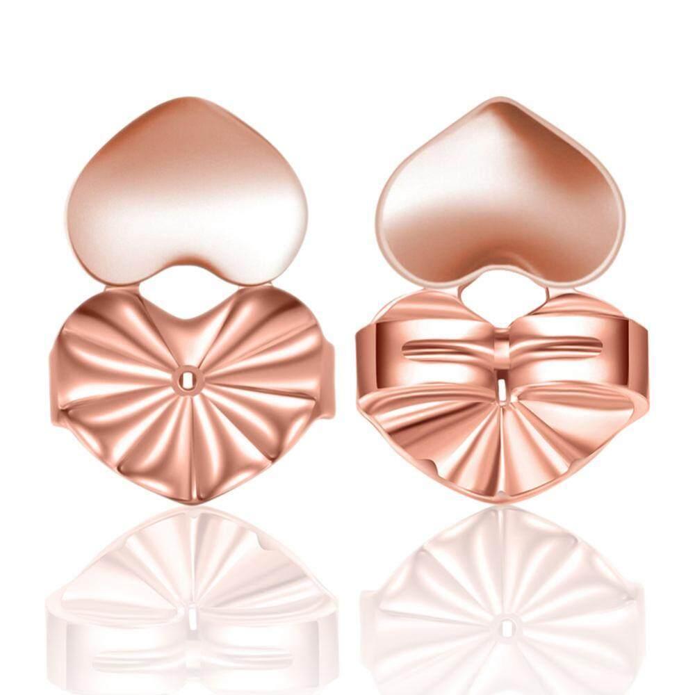 3 Colors 1 Pair / Set Earrings Back Ear Stud Nut Lifters Lift Copper Ear Lobe