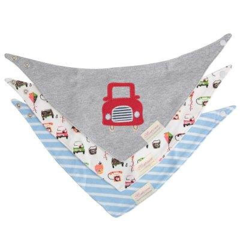 3pcs Sweet Practical Cotton Triangular Print Bibs Set for Babies Singapore