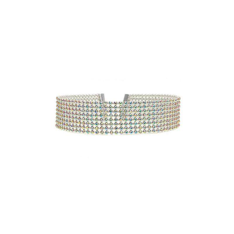 Elegan Wanita Penuh Berlian Imitasi Kalung Kalung Pernikahan Di Sekitar Perhiasan Leher-Intl