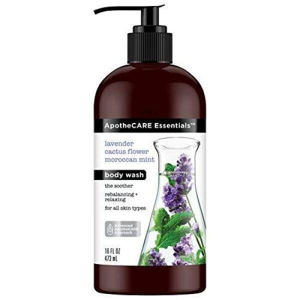 Buy (USA)ApotheCARE Essentials Body Wash Lavender, Cactus Flower, Moroccan Mint Body Wash 16 ounce Singapore