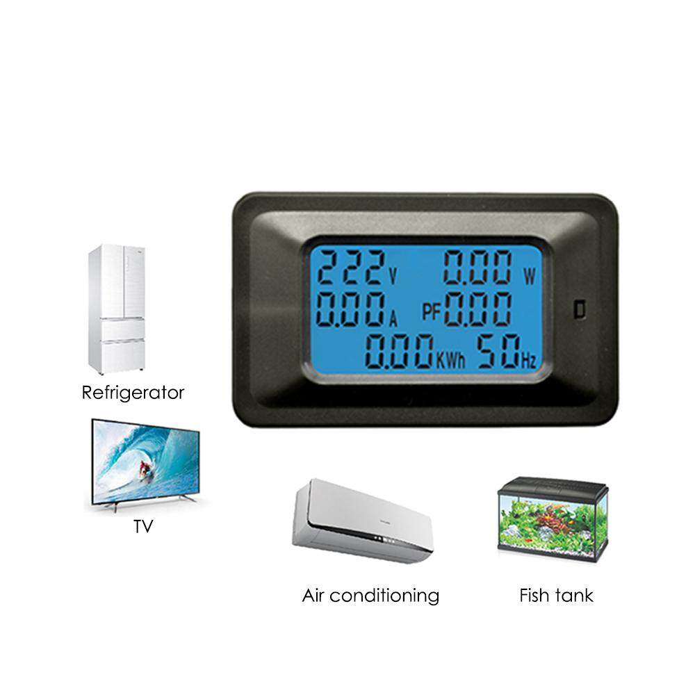 Features Gracekarin Online 100a Ac Lcd Digital Panel Power Watt Monitor With Led Display Meter Voltage Kwh Voltmeter Ammeter