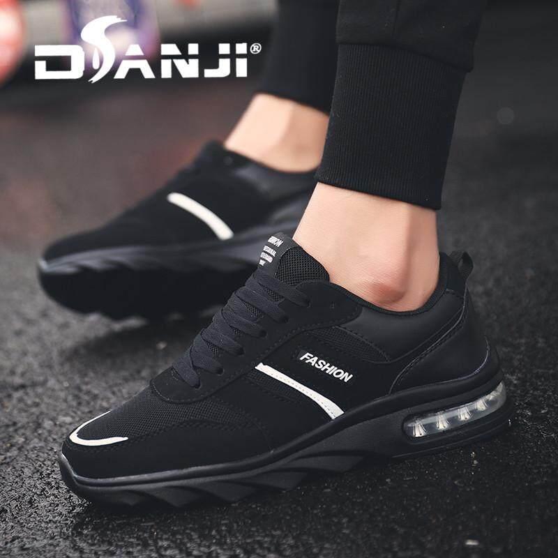 Danji 2018 Berita Pria Sneakers Bernapas Sepatu Kasual Fashion Renda Nyaman  Pria Sneakers Sepatu Flat Jaring b699b1bb70
