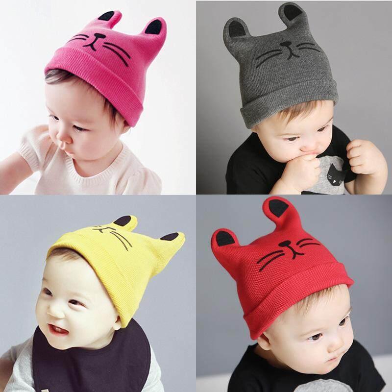 ... Panda Online Bayi Anak Laki-laki Topi Kepala Katun Topi Hangat Anak-anak Kucing