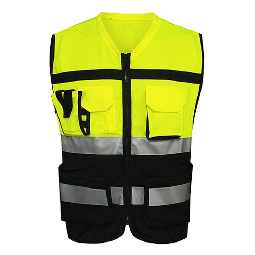 Keamanan Keselamatan Rompi Visibilitas Reflektif Konstruksi Lalu Lintas Pakaian Bersepeda