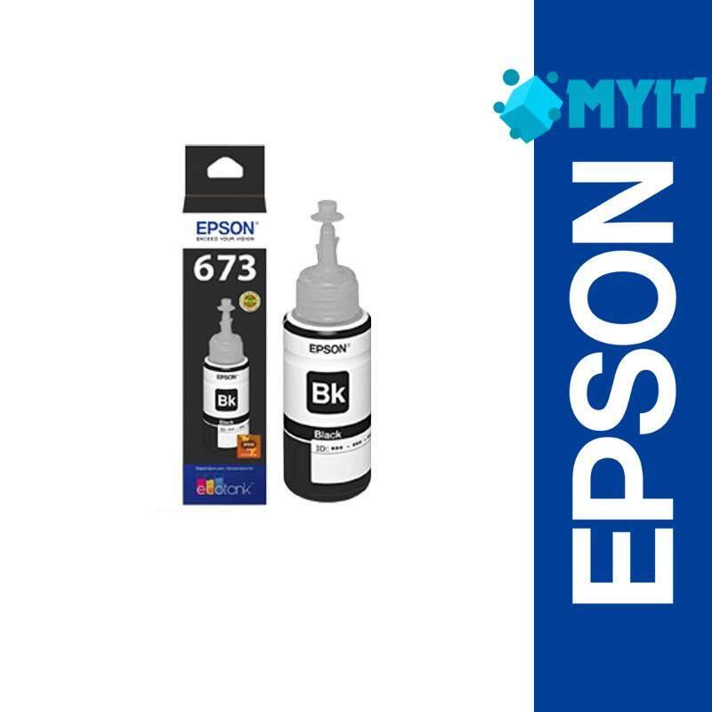 Epson Original T673 Black Ink Bottle Refill Supply for L800 L805 L810 L850 L1800 (T6731)