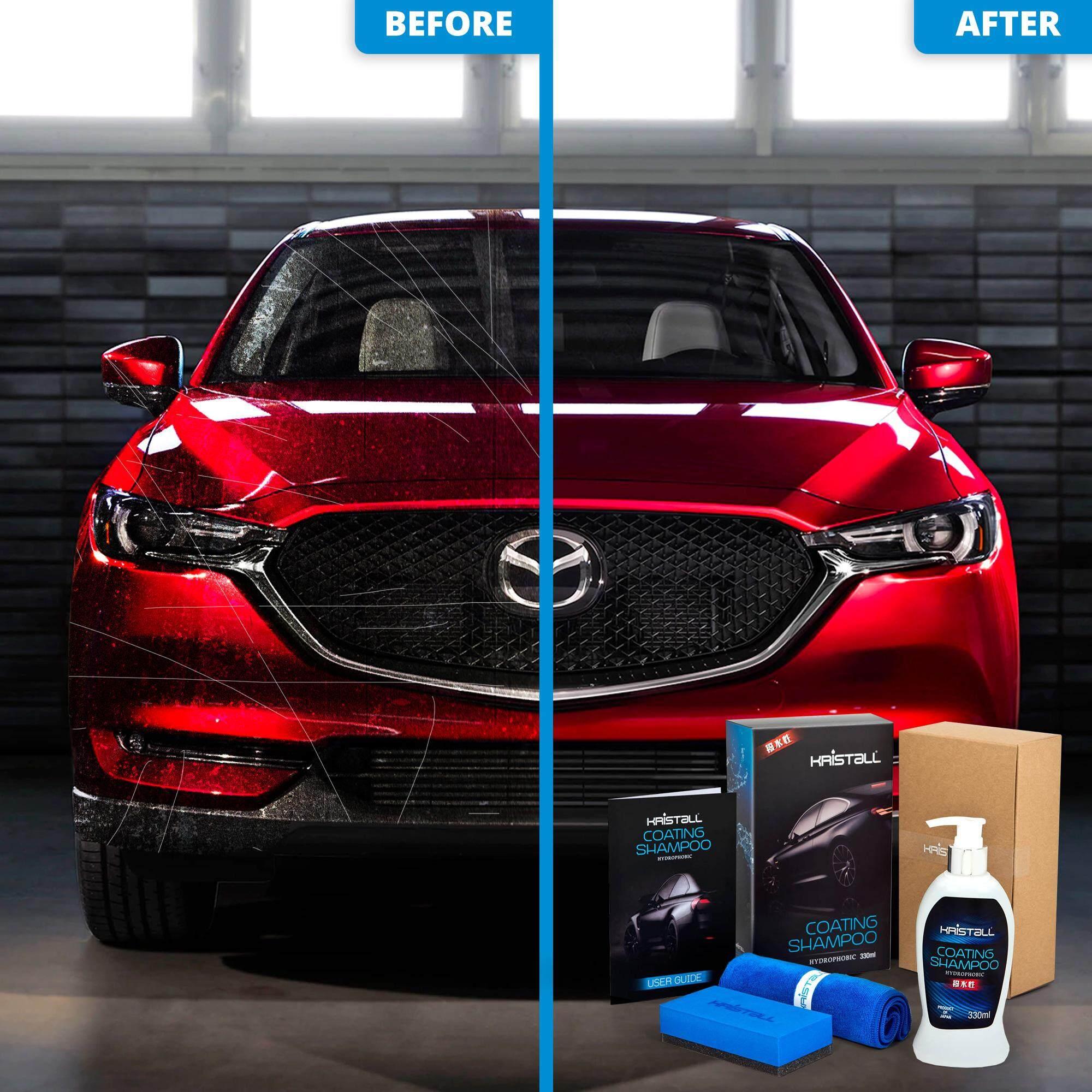 Mazda CX-5 Coating Shampoo - Kristall® Car Shampoo WITH Nano Coating (Car Paint Protection, Super Hydrophobic, Deep Gloss, 6.5 pH Balanced Neutral Shampoo)