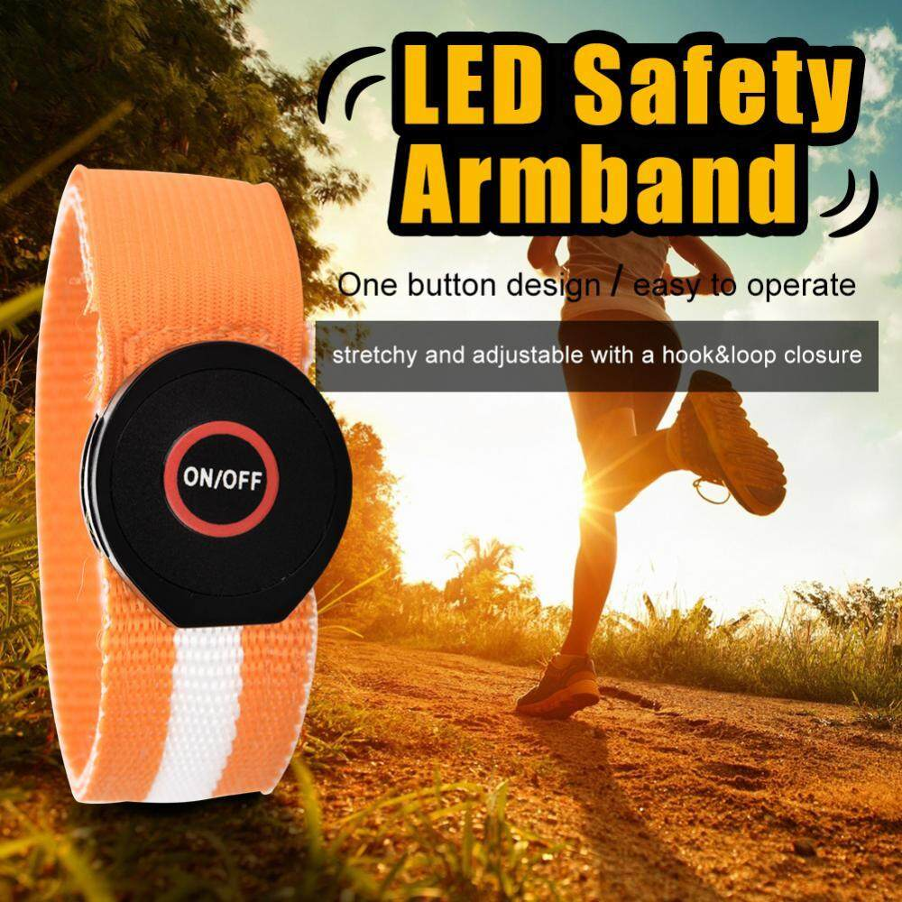 Hình ảnh ebayst【clearance sale+ready stock】LED Armband Running Cycling Jogging Safety Light Reflective Wrist Ankle Arm Band