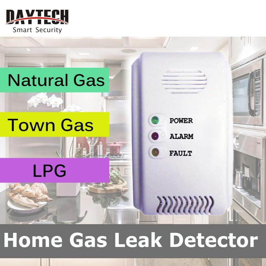 DAYTECH Gas Detector Security Detector Ignitable Gas Leaking Natural gas, Town gas and LPG Alarm Light flash and 80dB sound