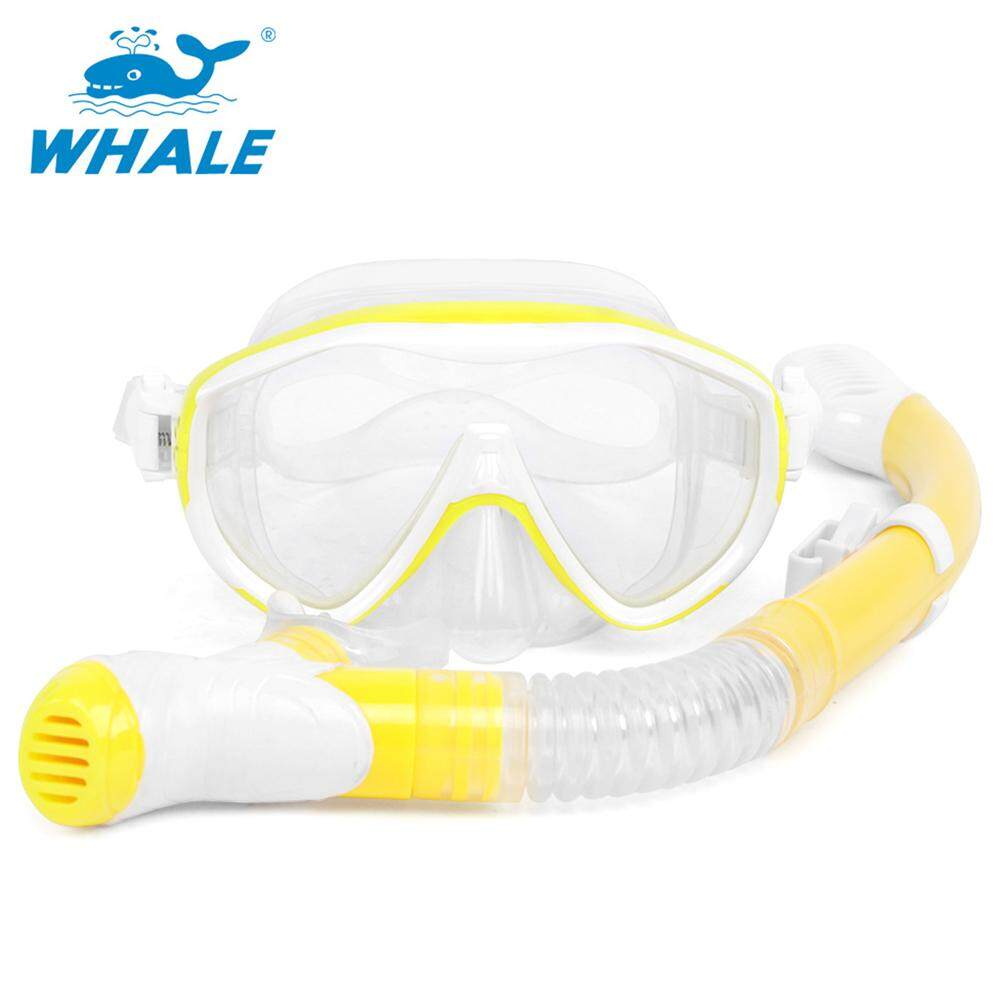 Snorkeling Mask Snorkel Set Anti Fog Underwater Scuba Diving Silicone Tube Snorkel Mask Swimming Training Diving