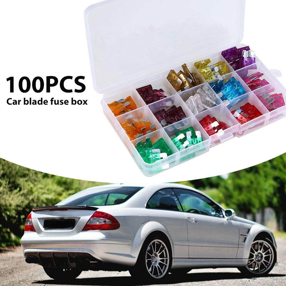 Buy Sell Cheapest 100pcs Box Car Best Quality Product Deals Motorcycle Fuse Holder Truck Blade Fuses Mini Assorted Block Motorcycles Home