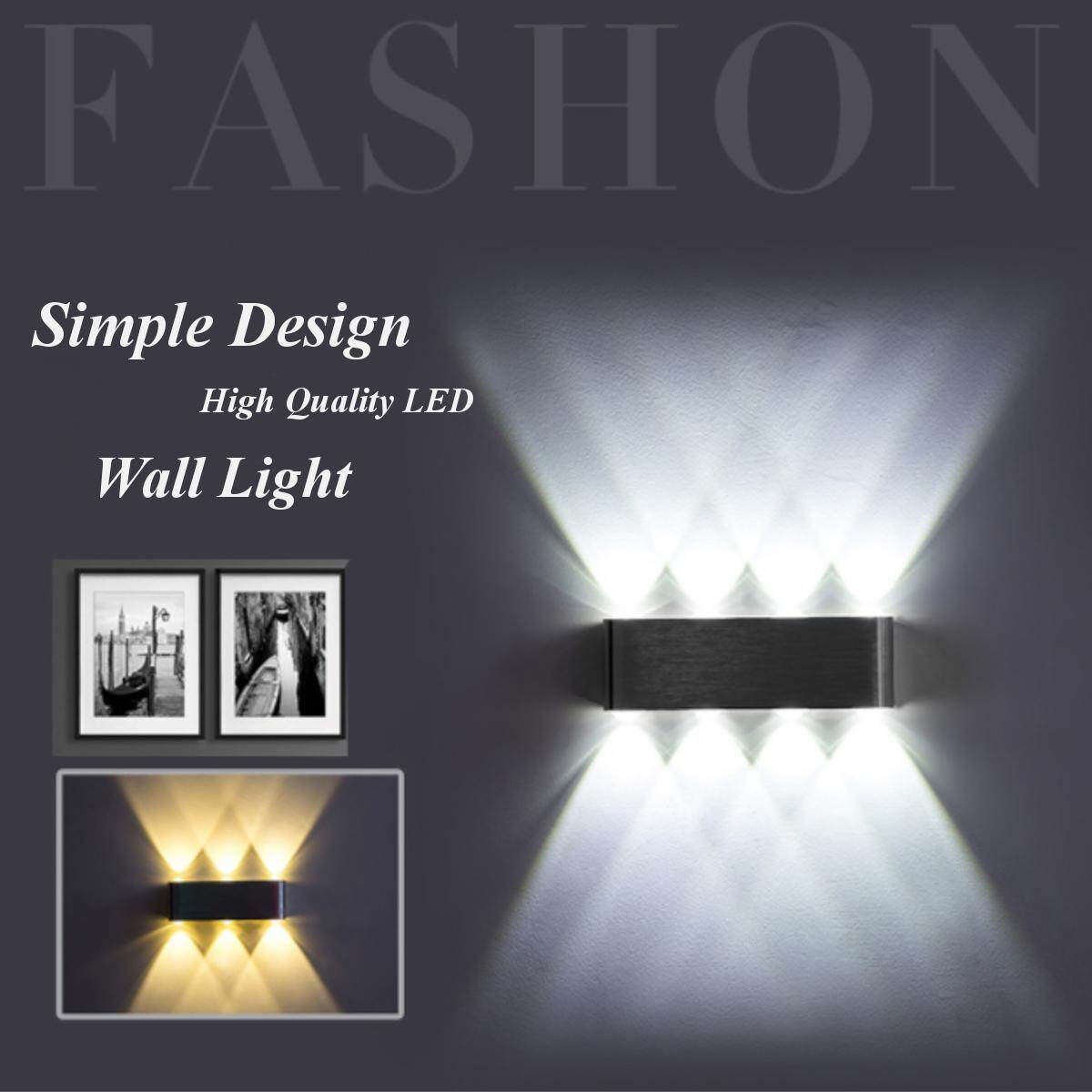 8W Up And Down Wall Light 8 Led Aluminum Outdoor Indoor Garden Patio Sconces Lamp Singapore