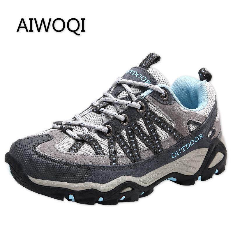 Aiwoqi Pria Sepatu Mendaki Kekasih Rendah Tahan Air Non-Slip Sepatu Mendaki  Panjat Tebing Luar 526f737b24