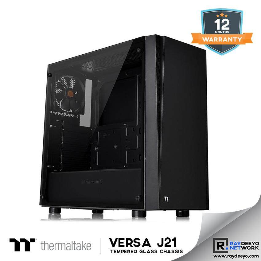 Thermaltake Versa J21 TG Tempered Glass Mid Tower Chassis [ATX, Matx, Mini-ITX] Malaysia