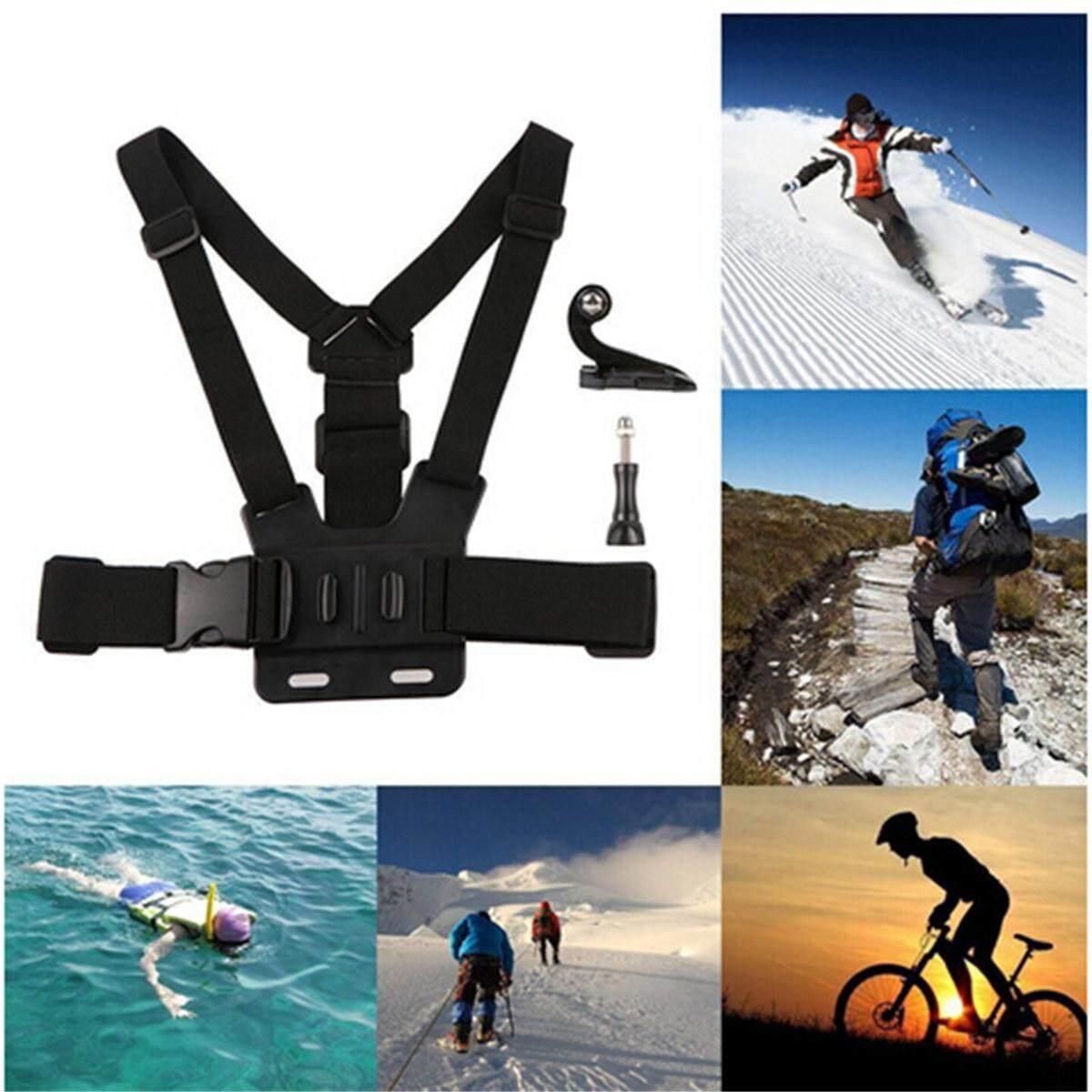 Tipe B Penyesuaian Elastis Dada Tubuh Kamera Olahraga Tali dengan J-Hook Gesper-Internasional