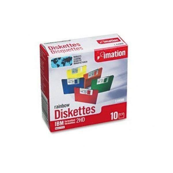 Media Kosong IBM Diformat 3.5 Documents, Dua Sisi/High-Density, Warna Pelangi, 10/Pack IMN42439-Intl