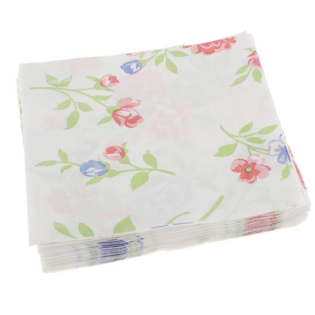 Hình ảnh BolehDeals 20pcs Disposable Serviettes Paper Flower Napkin Birthday Wedding Party Decor