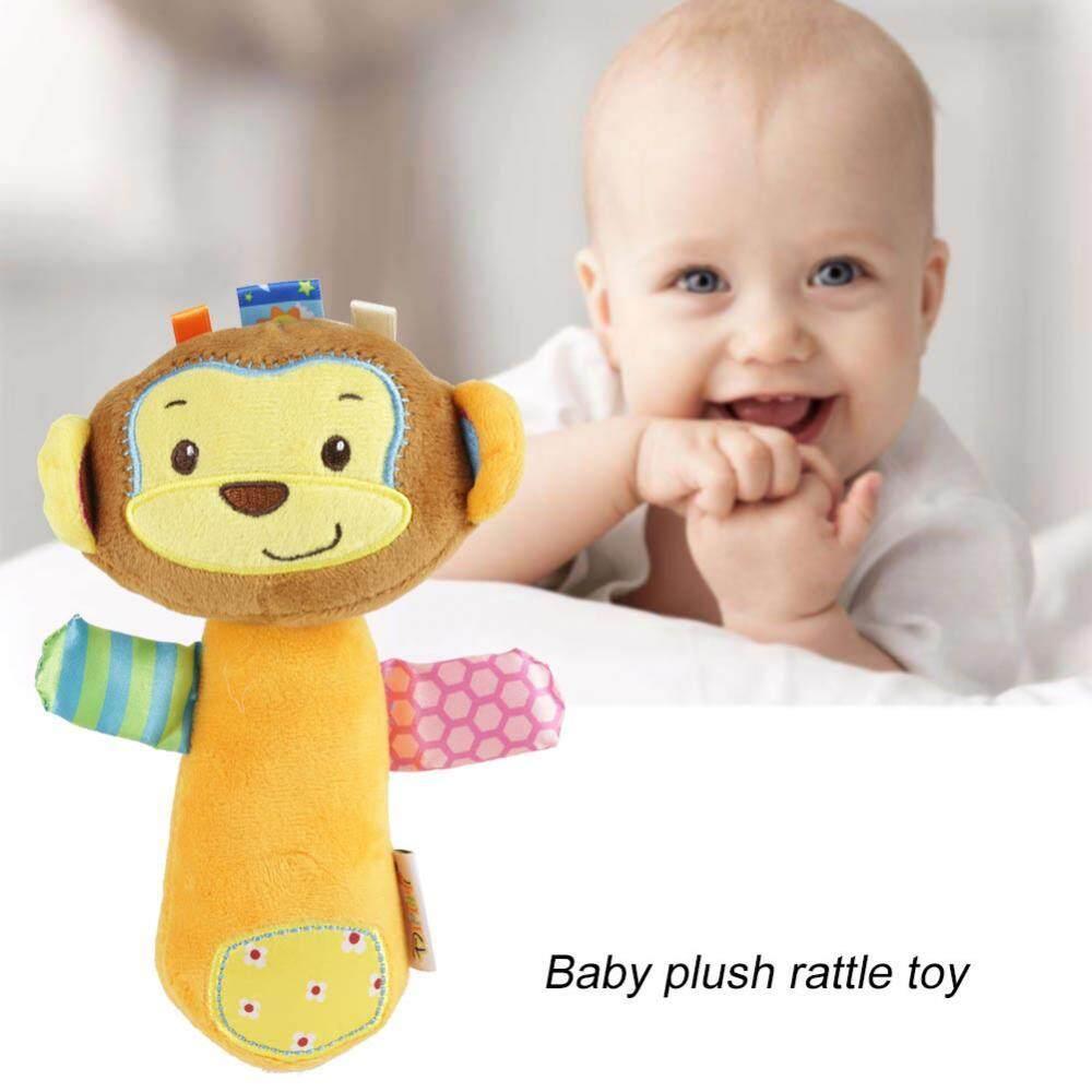 Cartoon Animal Handbell Bibi Sound Baby Rattle Stick Infant Soft Plush Funny Toy(monkey) - Intl By Highfly.