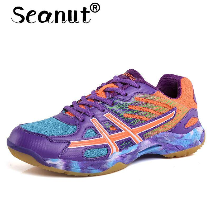 Seanut Men And Women Light Breathable Badminton Shoes for Men And Women Lace-up Sport