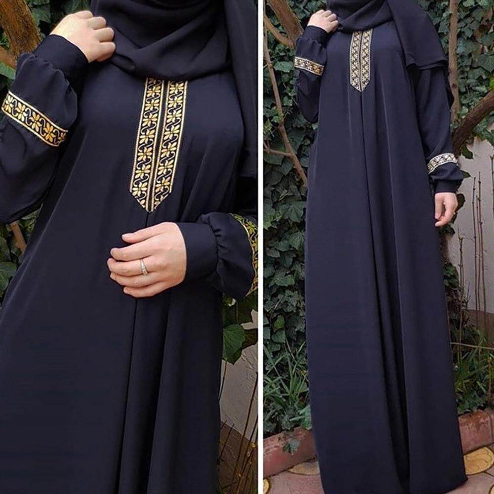 573b5653b9 Women Plus Size Print Abaya Jilbab Muslim Maxi Dress Casual Kaftan Long  Dress