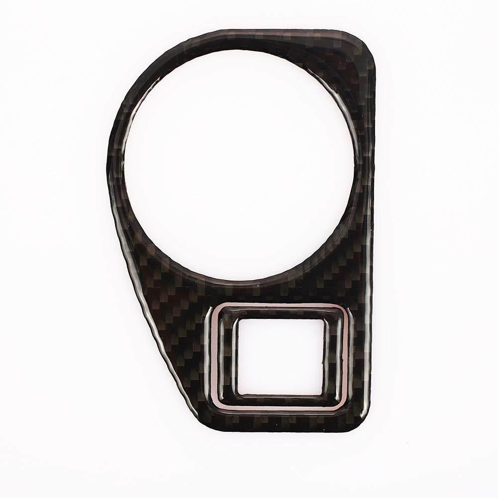 Stiker Mobil Stiker Oto Stiker Interior Fashion Kreatif Sakelar Lampu Kepala Serat Karbon Pengganti Diy untuk