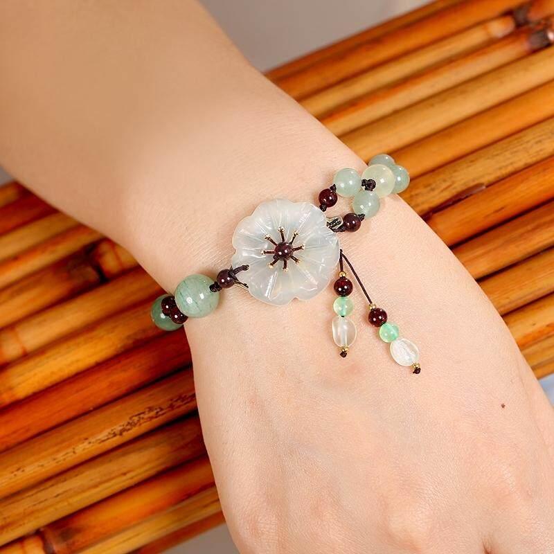 【Tepung putih Rose emas】Jin Miou asli jam tangan fashion wanita gelang sabuk baja kuarsa menonton model perempuan tahan air kecil mahasiswa dial versi Korea dari tren sederhana model liar kecil segar