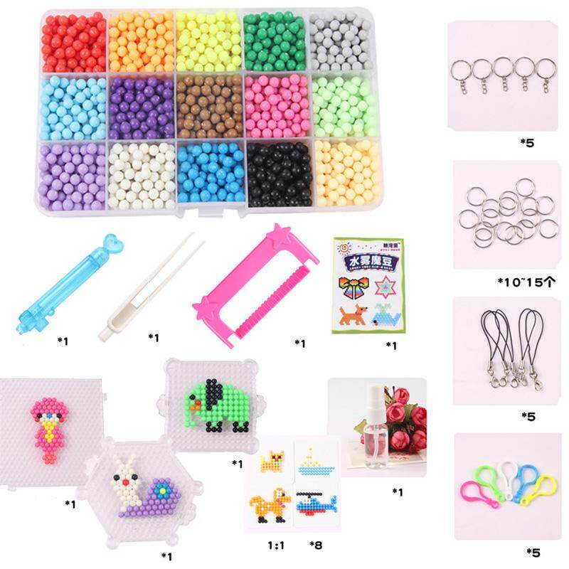 10/15/24colors Water Spray Magic Beads Kit Kids Puzzle Toys For Fun Diy Game 3d Puzzle Kit Educational Toys Many Perler Beads By Rytain.