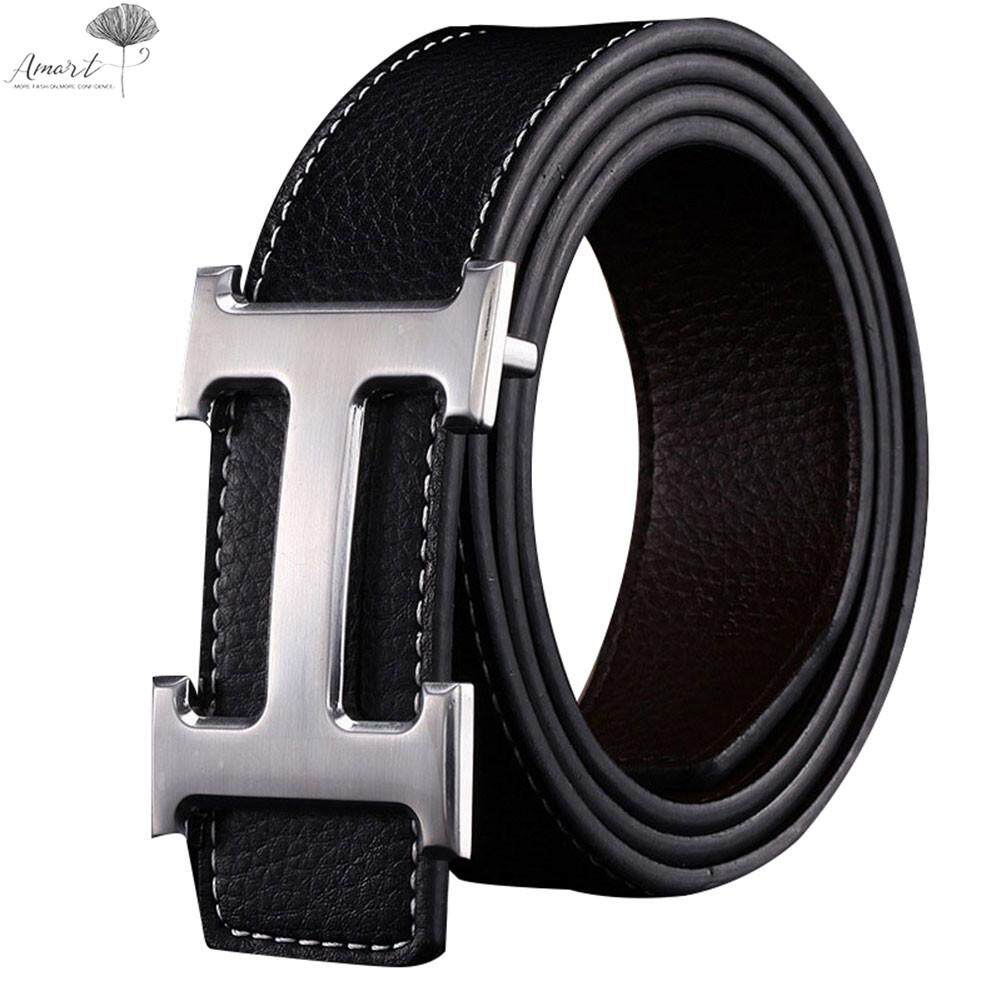 Belts Men Accessories With Best Online Price In Malaysia Ikat Pinggang Kain 150 Cm Big Size Amart Genuine Pu Leather H Smooth Buckle Belt For Menblack