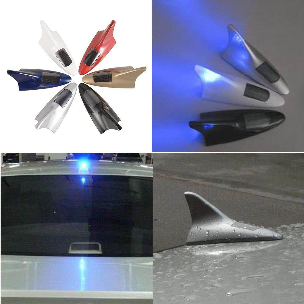 Car Antenna Topper For Sale Fin Online Brands Prices 1999 Honda Accord Universal 8 Leds Shark Solar Power Light Roof Flash Lamp Warning