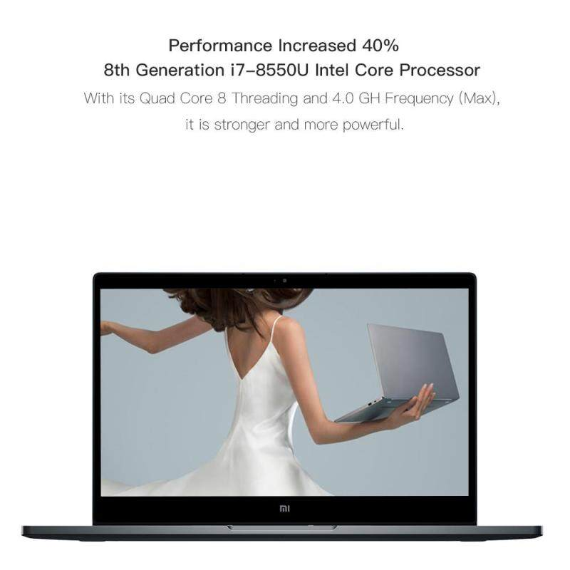 Xiaomi Mi Notebook Air Laptop Thin and Light 13.3 Inch i7-8550 8GB DDR4 256GB SSD Windows10 MX150 2GB GDDR5 Fingerprint Recognize Grey