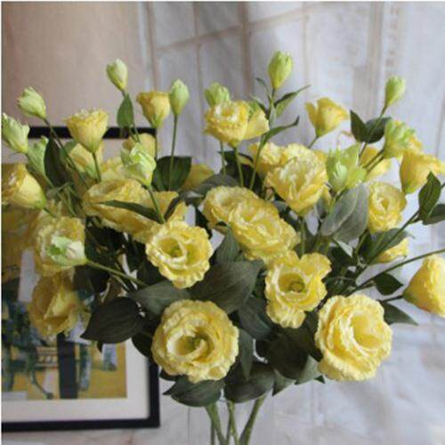 Artificial flowers clearance sale 6 heads colorful silk flowers eustoma grandiflorum home room artificial flower intl mightylinksfo