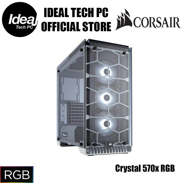 Corsair Crystal Series 570x RGB (Black/White) Malaysia