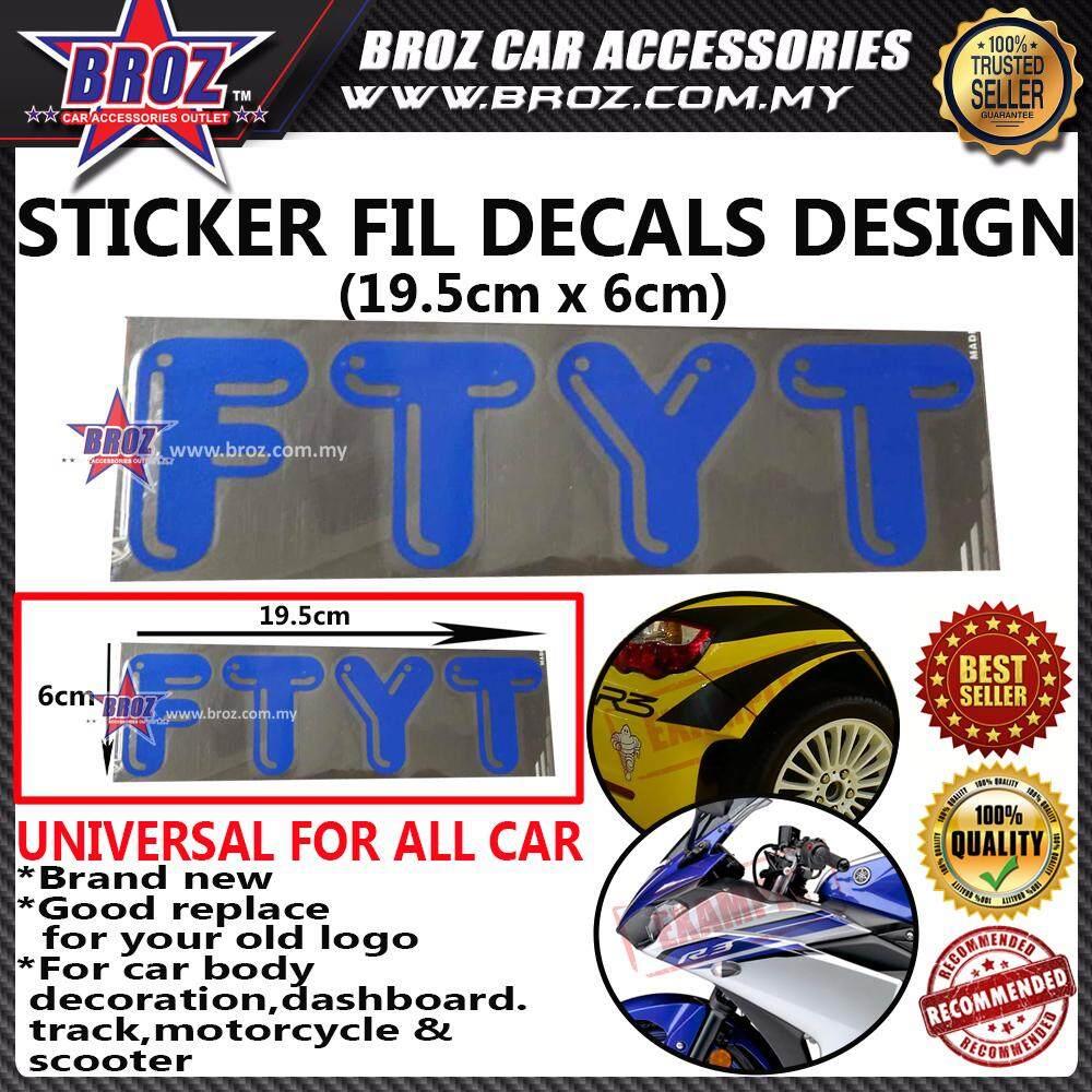 FTYT Decals Design Sticker - (BLUE)