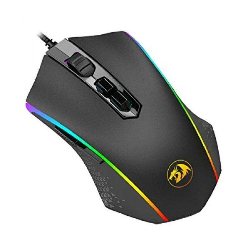 PC Game Hardware Redragon M710 MEMEANLION CHROMA Gaming Mouse, High-Precision Ambidextrous Programmable Gaming Mouse with 7 RGB backlight modes and tuning weights, up to 10000 DPI User Adjustable - intl Singapore