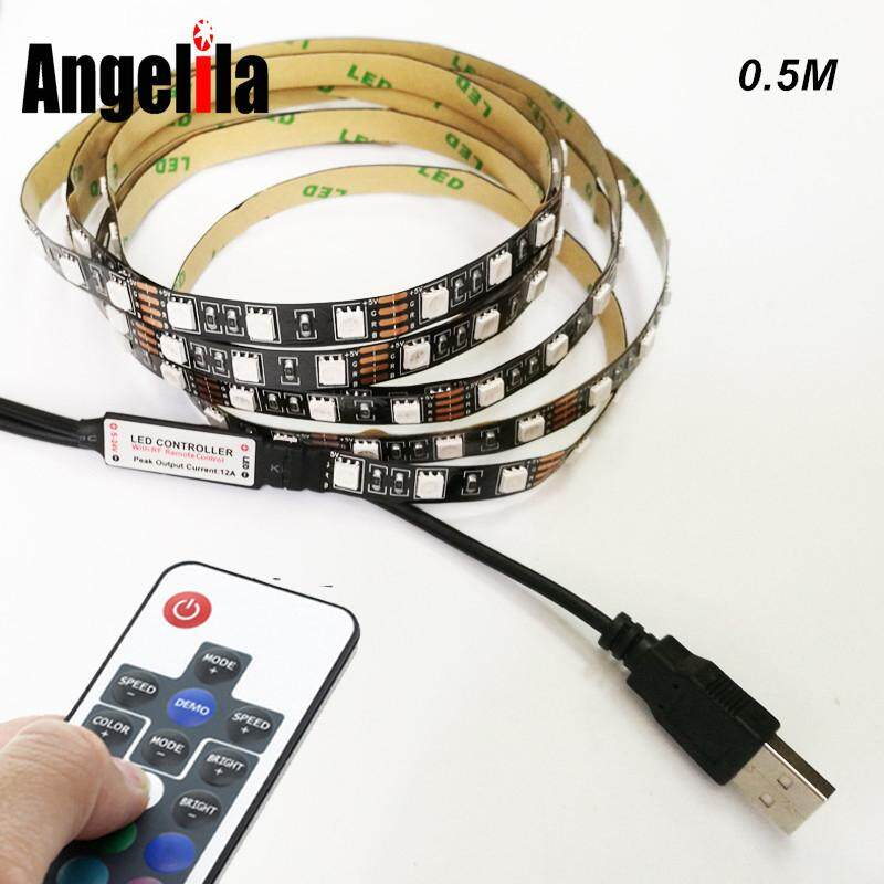 Angelila USB Lampu LED Garis Buah 5 V RGB 5050 5 V 1 M 60Led/
