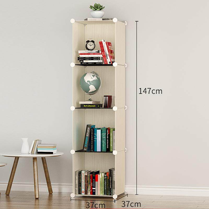 RuYiYu - Multi Use DIY Plastic Organizer, Bookcase, Storage Cabinet,large Space and Sturdy Construction Shelves