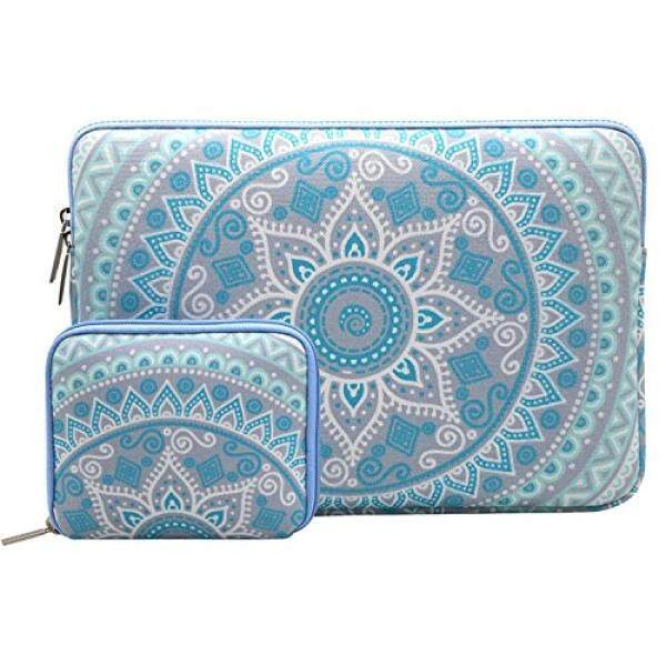 Mosiso Laptop Sleeve Compatible 13 Inch New MacBook Pro with Touch Bar 2017/2016, Surface Pro 2017, Surface Pro 4/3, Dell XPS 13, Canvas Mandala Tablet Bag with Case, Mint Green and Blue - intl