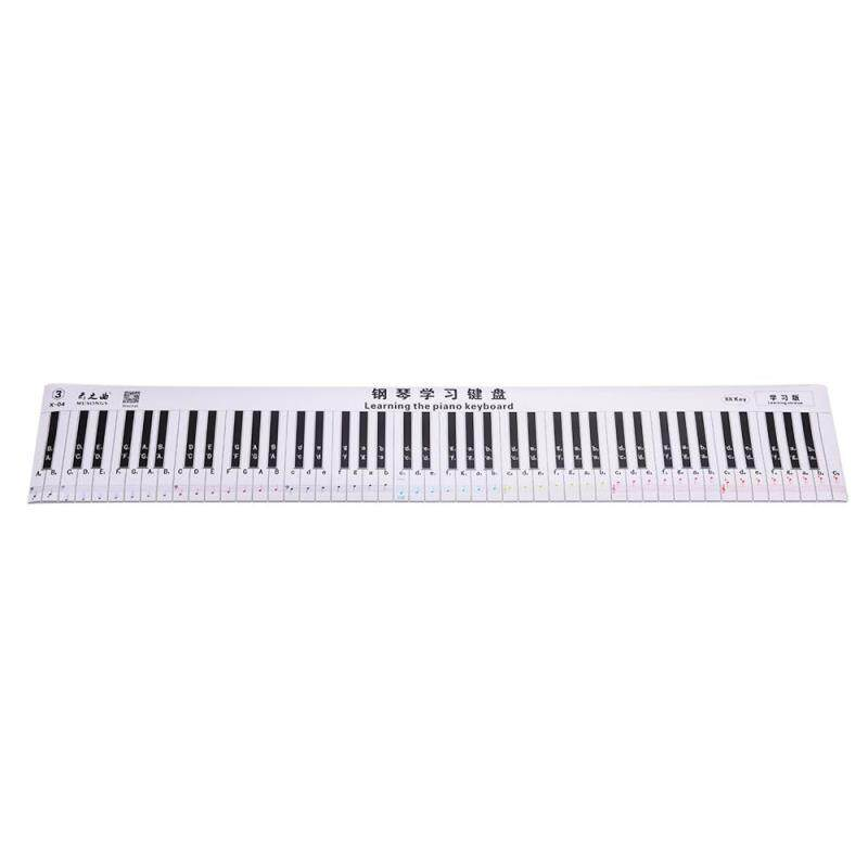 Fingering Version 88 Keys Piano Keyboard Fingering Practice Chart Sheet with Notes & Stave Reference Piano Teaching Guide Assistive Tool for Bebinners Students Kids Malaysia